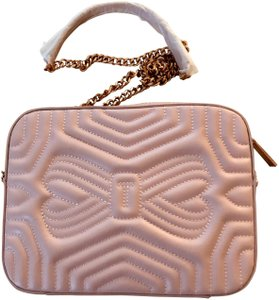 a3e0565f39b Ted Baker *sale* Sunshine Quilted Light Pink Leather Cross Body Bag ...