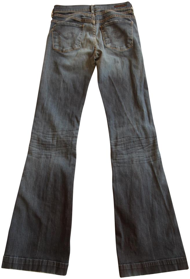 f2563c11a98 Citizens of Humanity Blue Medium Wash Hutton Trouser/Wide Leg Jeans ...
