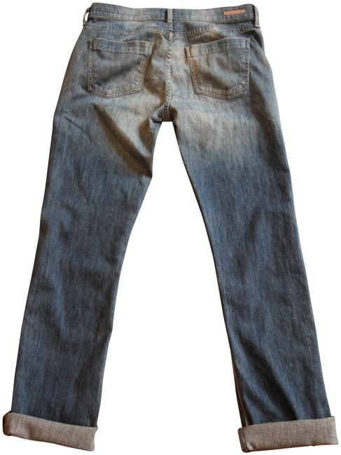 Item - Blue Light Wash Dani Cropped with Rolled Hem Straight Leg Jeans Size 28 (4, S)