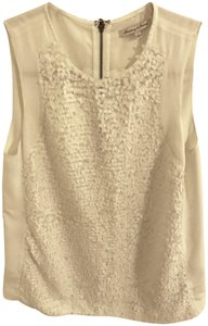 Broadway & Broome Sequin Top White