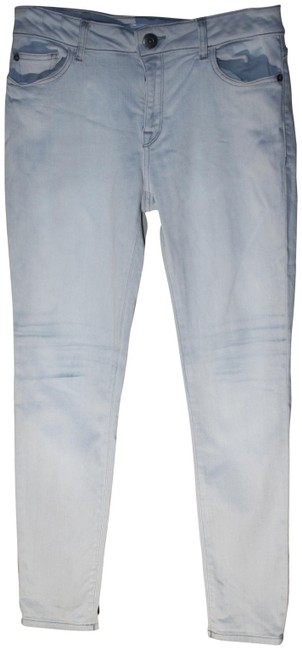 Item - White Distressed Margaux Instasculpt Skinny Jeans Size 28 (4, S)