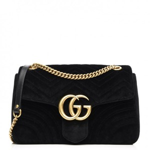 af5c11345fa2 Added to Shopping Bag. Gucci Velvet Vintage Marmont Shoulder Bag. Gucci GG  Marmont Medium Black ...