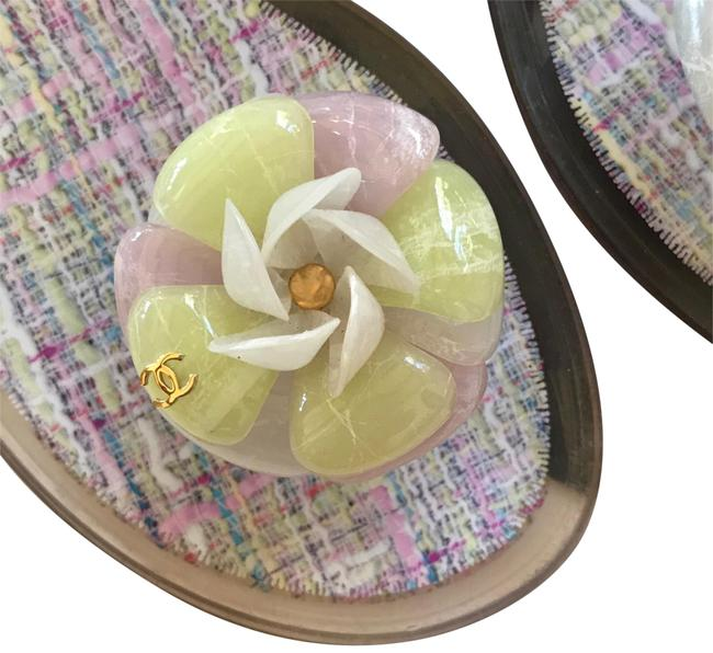 Item - Clear/Pink/Yellow Jelly Gucci Camellia Thong Sandals Size EU 41 (Approx. US 11) Regular (M, B)