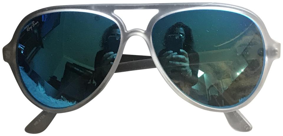 aad9a388f2e59 ... netherlands ray ban rayban 10318 rb4125 cats 5000 clear plastic frames  blue mirror lens edbe0 c066d