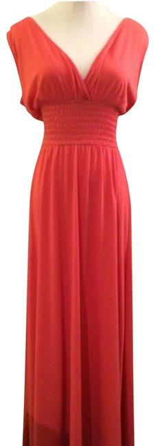 Item - Adorable Coral Small Long Casual Maxi Dress Size 6 (S)