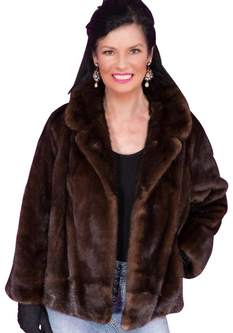 Item - Brown Large Fine Female Mahogany Mink Dinner Jacket Class Of Coat Size 12 (L)