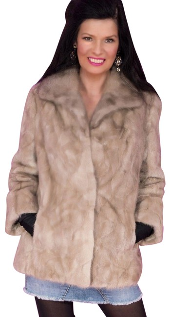 Item - Beige Small Fine Female Silver Blue Mink Jacket Coat Size 8 (M)