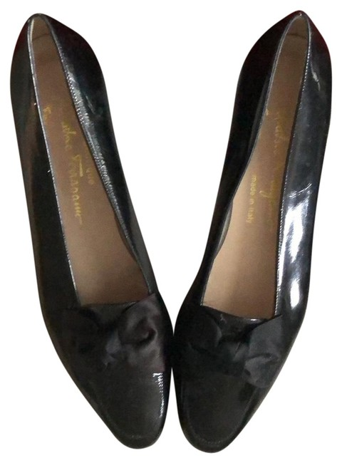 Item - Black Patent Leather with Bow Flats Size US 7.5 Narrow (Aa, N)
