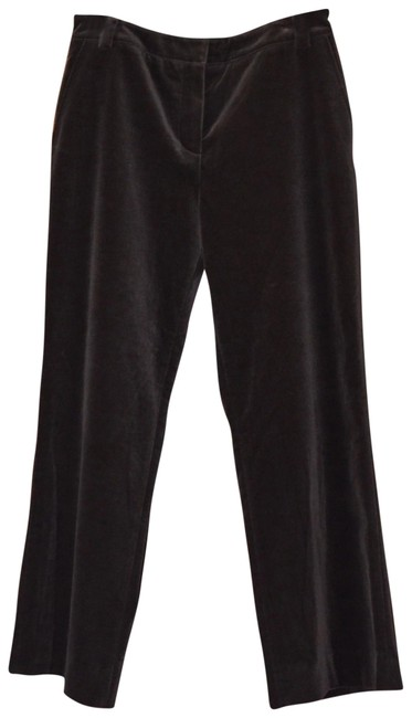 Item - Brown Haute Couture By Marie Grey Velvet Stretch Pants Size 8 (M, 29, 30)