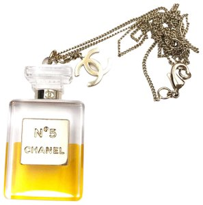 Chanel Chanel Rare Gold CC Large N 5 Perfume Pendant Necklace