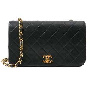 Chanel Vintage Lambskin Quilted Shoulder Cross Body Bag