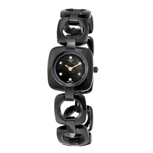 Tissot Swiss Black Dial T-Trend Collection Black PVD Ladies Watch