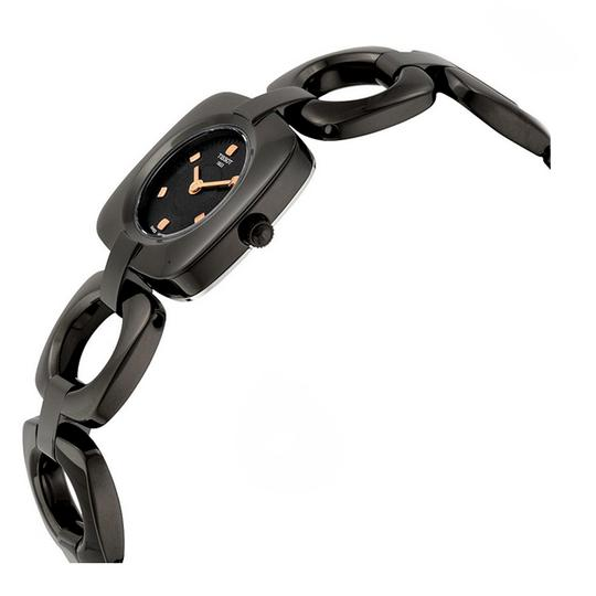 Tissot Swiss Black Dial T-Trend Collection Black PVD Ladies Watch Image 1