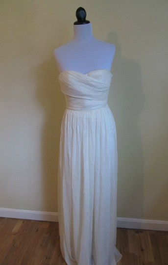 J.Crew Ivory Silk Chiffon Arabelle Feminine Wedding Dress Size 10 (M)