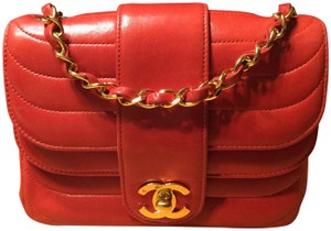 792b220ec14c Chanel Double Flap Mini Quilted Purse Tomato Red Lambskin Leather ...
