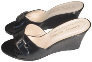 Charles Jourdan Black Wedges