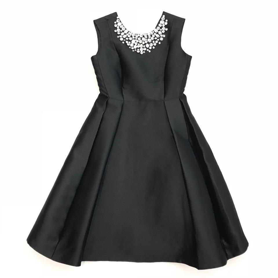 73bdf5c910eb Kate Spade Black Cambria Embellished Crystal Fit And Cocktail Dress ...