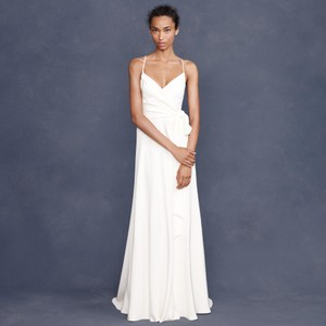 J.Crew Ivory Silk Goddess Destination Wedding Dress Size 10 (M)