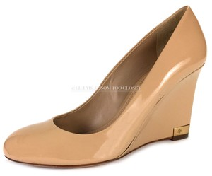 5d42eff3919b45 Tory Burch Business Work Casual Night Out Date Night Beige Wedges