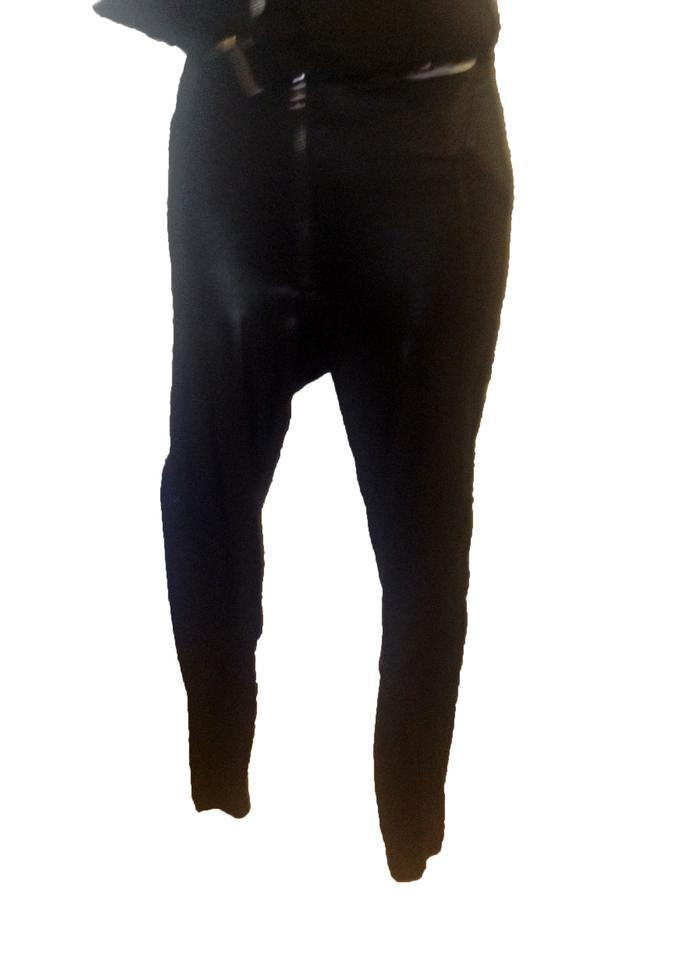 9fa86f079 Caribbean Queen Black Shiny Faux Leather Leggings Size 10 (M