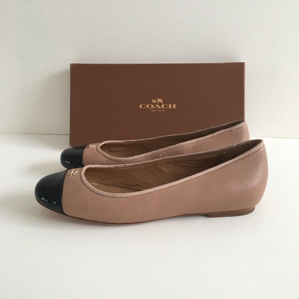 d68910601 Coach Blush / Nude Black Samantha Ballet Flats Size US 8 Regular (M ...