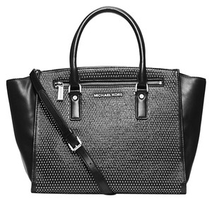 Michael Kors Leather; Guaranteed Your Money Back Satchel in Black