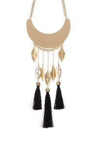 Bansri Bansri Supernova Feather & Silk Tassel Necklace