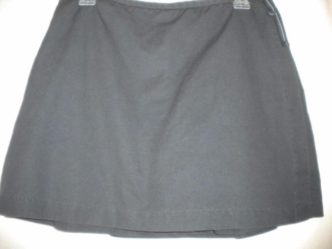 Gap Factory Store Cotton Skirt Outside Underneath Skort Navy Image 2