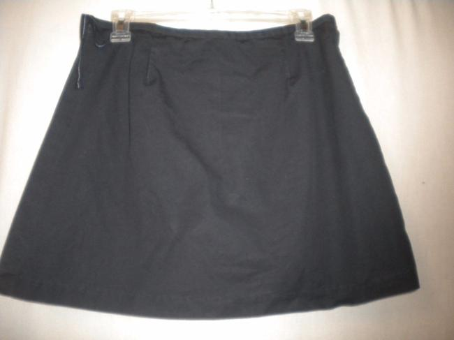 Gap Factory Store Cotton Skirt Outside Underneath Skort Navy Image 4