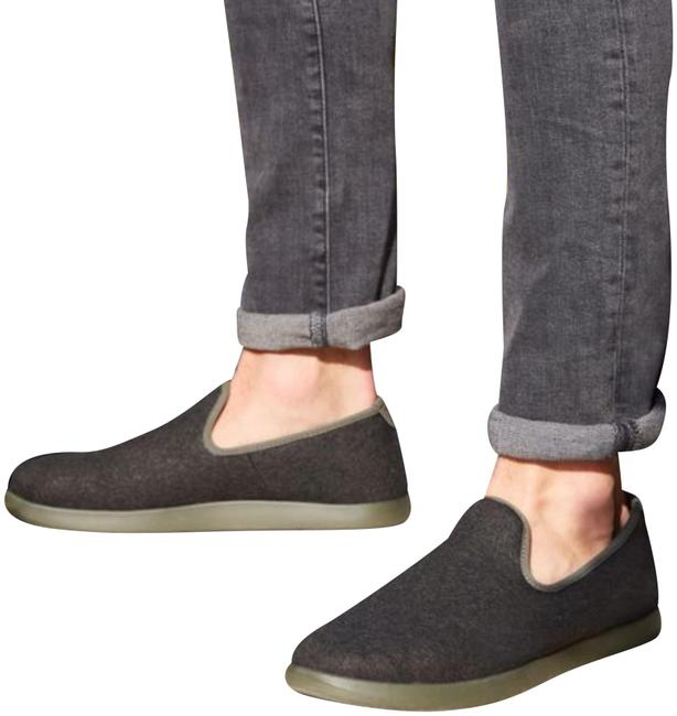 Item - Dark Charcoal Gray Olive Green Slip On Loungers Flats Size US 10 Regular (M, B)