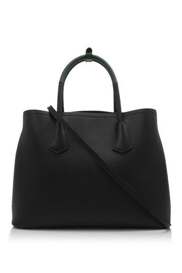 06871962a799 Prada Double Saffiano Cuir 34cm Black Saffiano Leather Tote - Tradesy