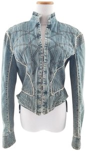 Alexander McQueen Runway Model Couture Womens Jean Jacket