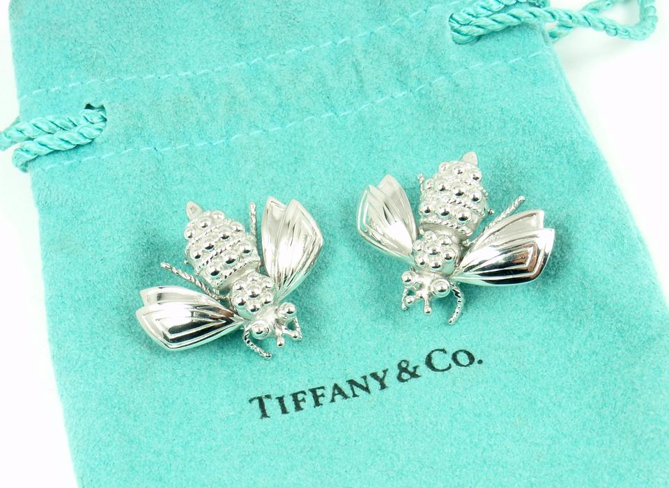 a6cb24ecc Tiffany & Co. Rare VintageSterling Silver LARGE Bumble Bee Earrings Image  5. 123456