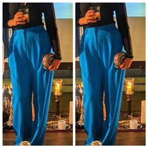H&M Wide Leg Pants blue