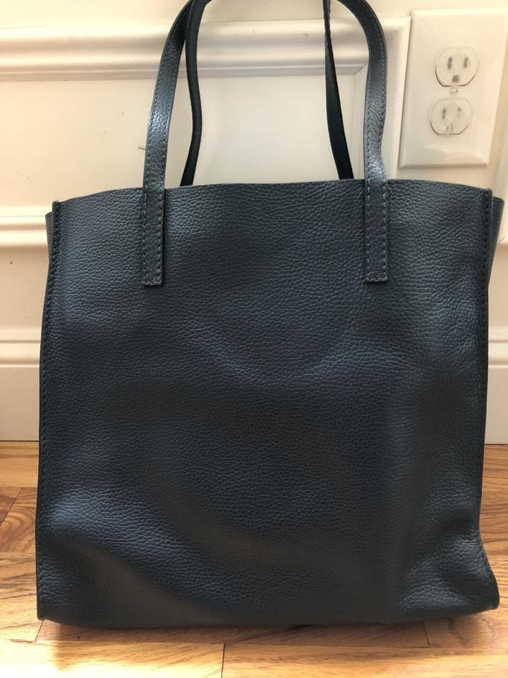 128e6bae4929 Marc Jacobs Bold Grind Color Blue Sea Cowhide Leather Tote - Tradesy