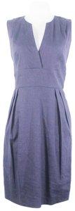 Adam Lippes Career Linen Blend Pockets Dress