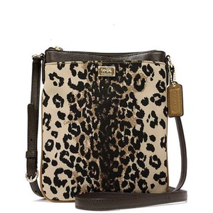 Coach Swingpack Madison 49729 Leopard Cross Body Bag