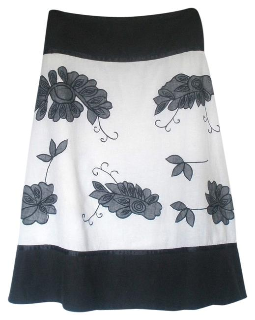 Preload https://item2.tradesy.com/images/chaudry-black-and-white-embroidered-skirt-black-white-grey-2329201-0-0.jpg?width=400&height=650