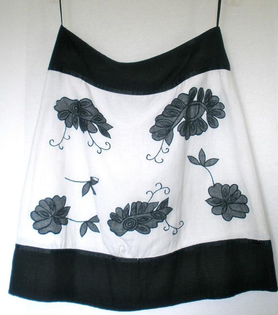 Chaudry & Embroidered Skirt Black, White, Grey