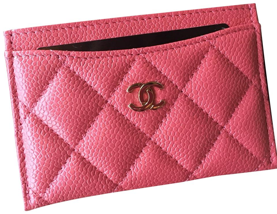 cd09f77a Chanel Pearly Pink Sold Out 18s Caviar Card Case Holder Flat O-case Pear  Wallet