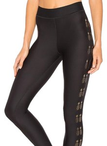 Ultracor ULTR-WP5 ULTRA FLASH PINEAPPLE LEGGING IN NERO IRIDESCENT GOLD