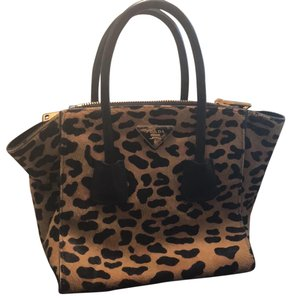 Prada Leopard Handbag Tote in multi-color  animal print 1ad8bfb0dfa32