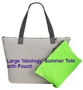 Ideology Beach Summer Tote in Gray/Lime