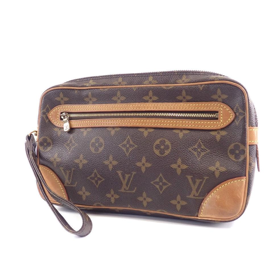 d3a7441dfb0d Louis Vuitton Marly Dragonne Monogram Wrist Leather Clutch - Tradesy