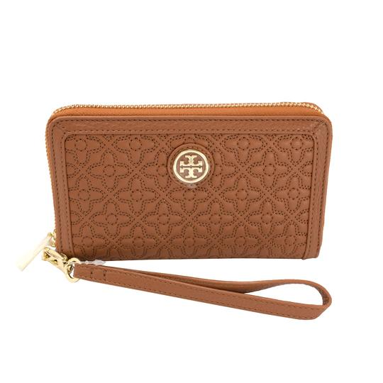 Tory Burch Style # 34030 190041299690 Wristlet in Luggage Image 1
