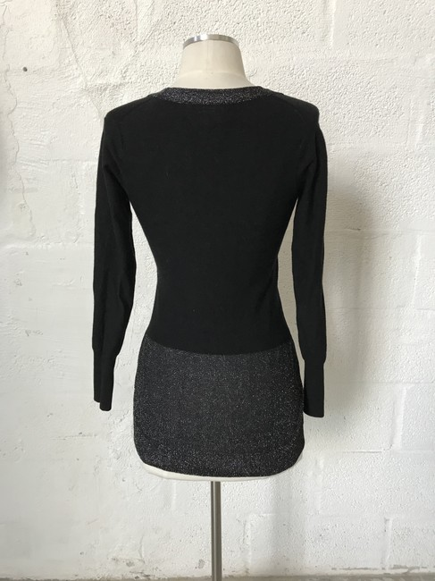 Tracy Reese Cradigan Metallic Chunky Buttons Sweater Image 2