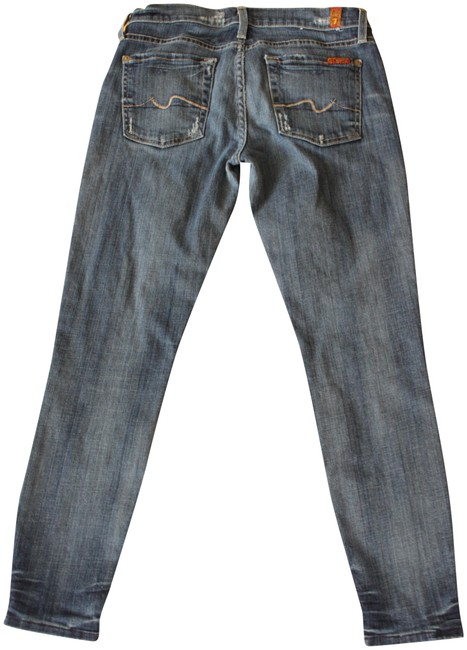 Item - Blue Distressed Cropped Gwenevere with Slight Skinny Jeans Size 28 (4, S)