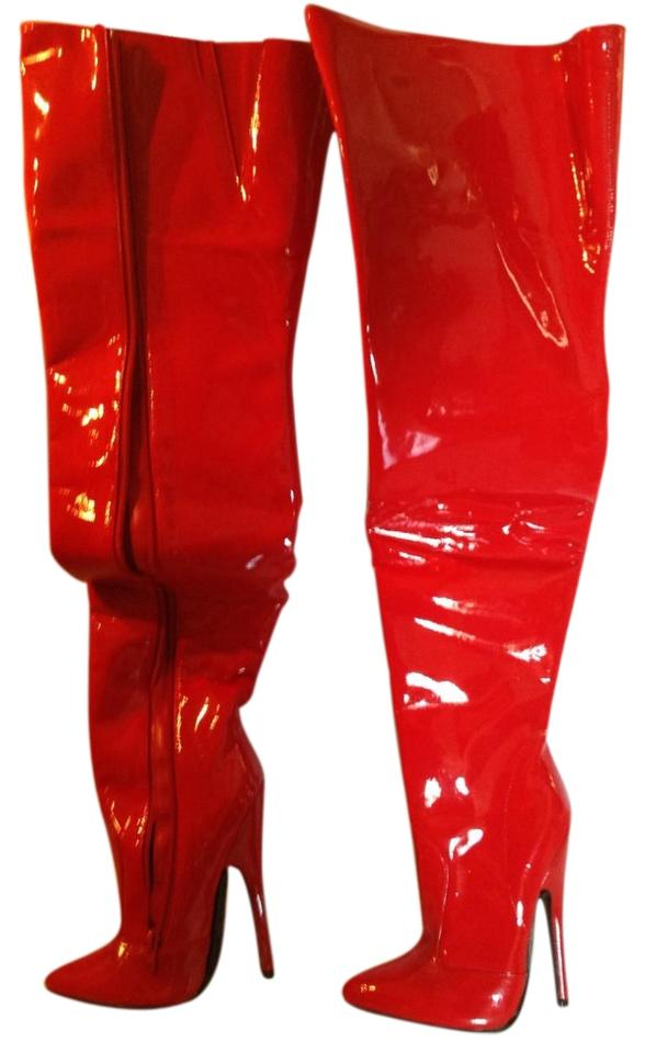 2efe33885ab6 Red Collection Thigh High Over The Knee New Boots/Booties Size US ...