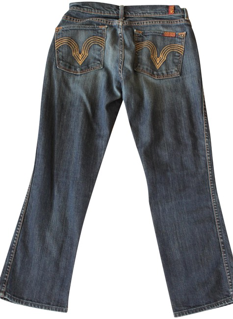 Item - Blue Dark Rinse Kimmie Cropped Straight Leg Jeans Size 28 (4, S)