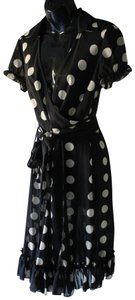 Sandra Darren short dress Black and Gold Dots Summer Cute Fashion on Tradesy